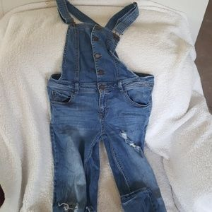 Women's Medium Love Fire Overalls